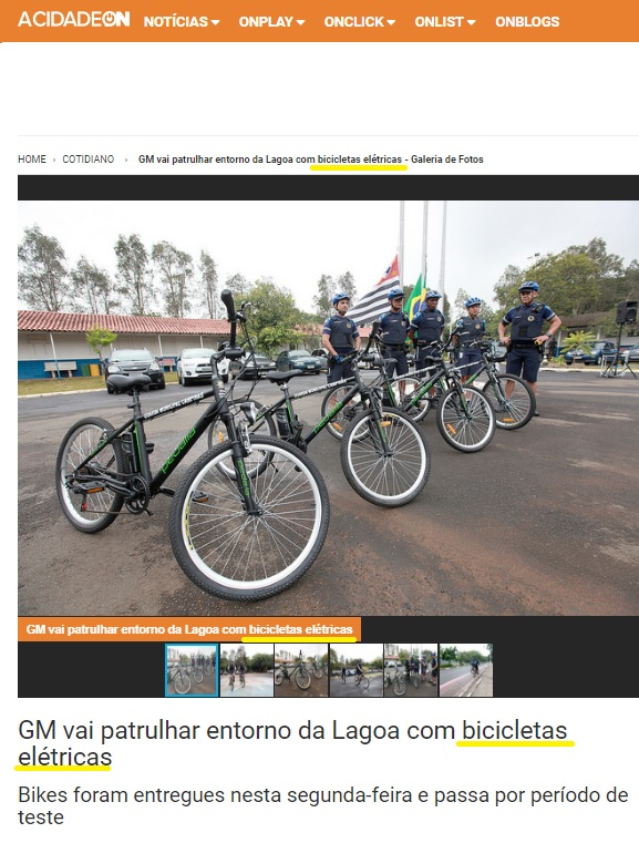 CIDADE ON 29 DE JANEIRO 2018 GM EBIKES