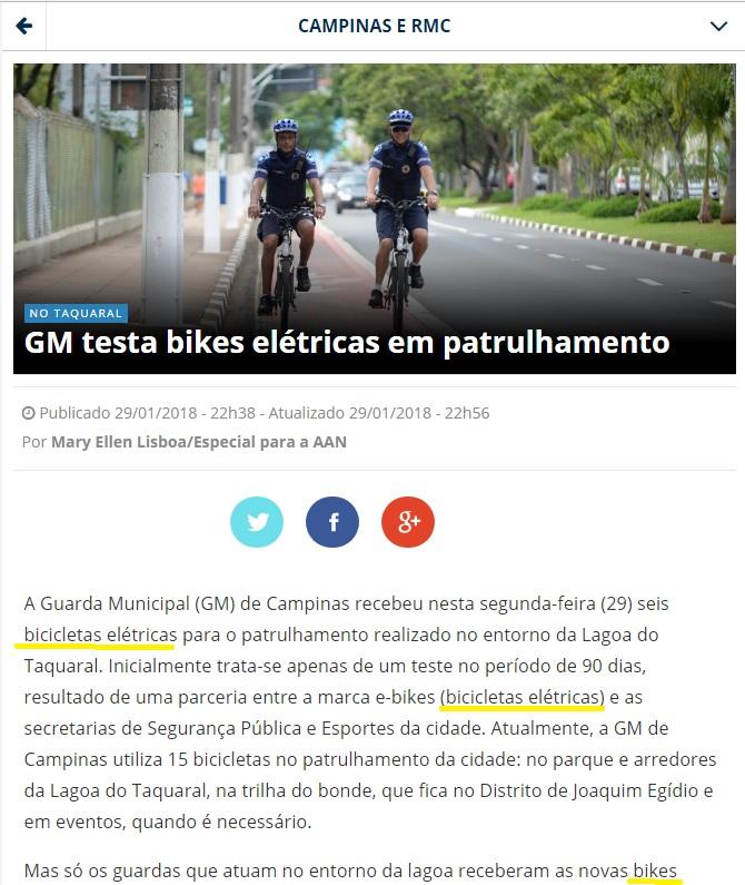 PATRULHAMENTO GM - CORREIO POPULAR 29 DE JANEIRO 2018
